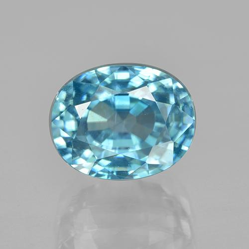 thumb image of 7.2ct Oval Facet Blue Zircon (ID: 286422)