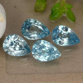Blue Zircon Gem - 1.1ct Pear Facet (ID: 292650)
