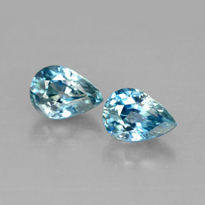 Buy 2.41 ct Blue Zircon 7.01 mm x 5.1 mm from GemSelect (Product ID: 292745)