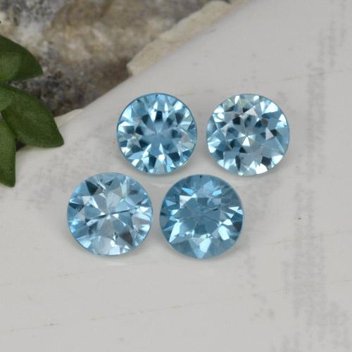 Swiss Blue Zirkon Edelstein - 0.5ct Diamanten-Schliff (ID: 301704)