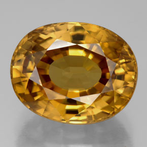 22.8 ct Natural Yellow Golden Zircon