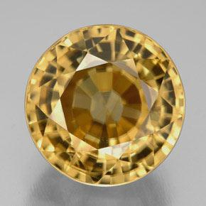 Yellow Golden Zircon Gem - 21.8ct Round Facet (ID: 309721)
