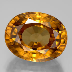 18.67 ct Oval Facet Yellow Golden Zircon Gemstone 15.86 mm x 12.5 mm (Product ID: 310269)