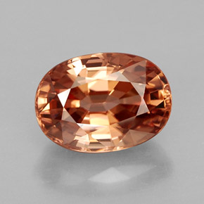 4.08 ct Natural Rose Orange Zircon
