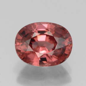 Buy 3.39 ct Rose Zircon 9.06 mm x 7.1 mm from GemSelect (Product ID: 310958)