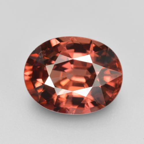 thumb image of 3.1ct Oval Facet Rose Zircon (ID: 310978)