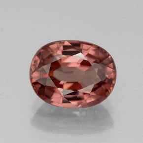 Rose Zircon Gem - 3.1ct Oval Facet (ID: 310980)