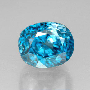 thumb image of 6.8ct Oval Facet Blue Zircon (ID: 317049)