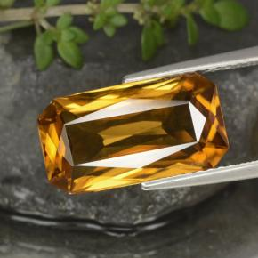 Deep Golden Zircon Gem - 7.9ct Octagon / Scissor Cut (ID: 317055)