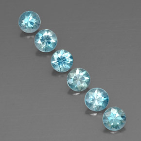 Blue Zircon Gem - 0.6ct Diamond-Cut (ID: 318235)