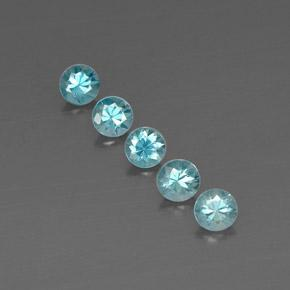 Blue Zircon Gem - 0.6ct Diamond-Cut (ID: 318666)