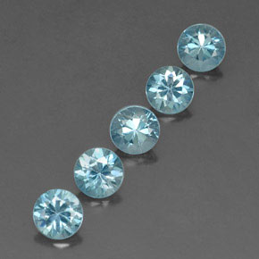 Buy 2.90 ct Blue Zircon 4.70 mm  from GemSelect (Product ID: 320323)