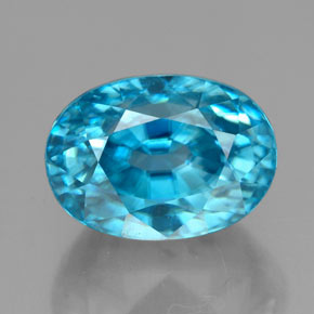 thumb image of 7.2ct Oval Facet Blue Zircon (ID: 324885)