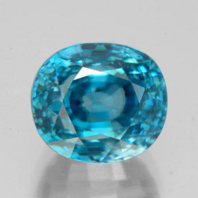 Blue Zircon Gem - 7.5ct Oval Facet (ID: 325146)