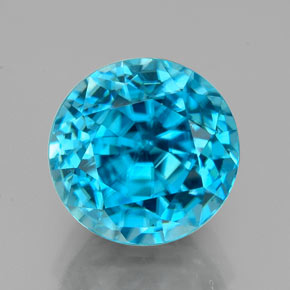 Buy 4.88 ct Blue Zircon 8.74 mm  from GemSelect (Product ID: 327341)