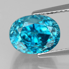 Buy 6.30 ct Blue Zircon 9.52 mm x 8.1 mm from GemSelect (Product ID: 327722)