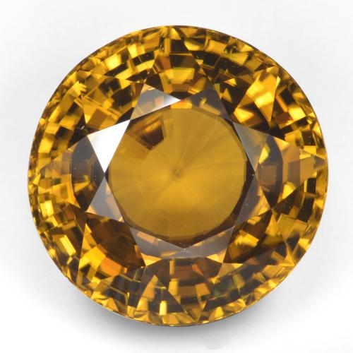 47.2ct Round Facet Yellow Orange Zircon Gem (ID: 329310)