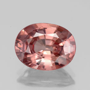 4.60 ct Oval Facet Rose Zircon Gemstone 11.02 mm x 8.6 mm (Product ID: 335836)