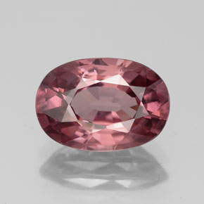 Pink Rose Zircon Gem - 4ct Oval Facet (ID: 335838)
