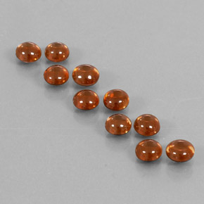 Orange Zircon Gem - 0.7ct Round Cabochon (ID: 337578)