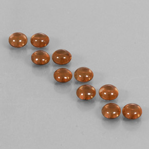 Deep Orange Zircon Gem - 0.7ct Round Cabochon (ID: 337579)