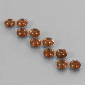 Golden Brown Zircon Gem - 0.7ct Round Cabochon (ID: 337585)