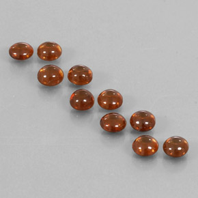 Golden Brown Zircon Gem - 0.7ct Round Cabochon (ID: 337587)