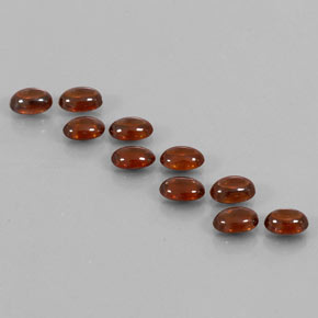 Red Orange Zircon Gem - 0.8ct Oval Cabochon (ID: 337602)
