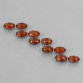 Orange Zircon Gem - 0.8ct Oval Cabochon (ID: 337605)