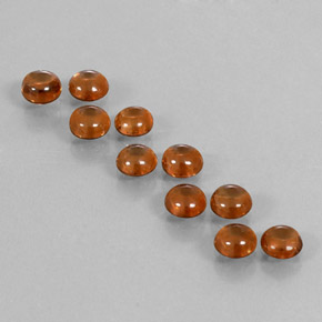 Golden Brown Zircon Gem - 0.6ct Round Cabochon (ID: 337628)