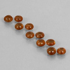 Medium Orange Zircon Gem - 0.7ct Round Cabochon (ID: 337629)