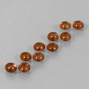 Deep Orange Zircon Gem - 0.6ct Round Cabochon (ID: 337631)