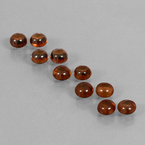 Reddish Brown Zircon Gem - 0.8ct Round Cabochon (ID: 337635)