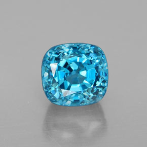 Buy 3.72ct Blue Zircon 7.22mm x 6.78mm from GemSelect (Product ID: 337755)
