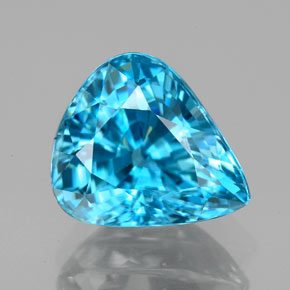 7.18 ct Pear Facet Blue Zircon Gemstone 11.53 mm x 10.2 mm (Product ID: 351025)