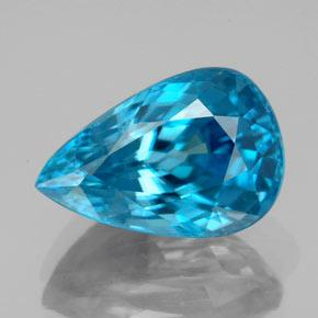 7.47 ct Pear Facet Blue Zircon Gemstone 13.16 mm x 8.8 mm (Product ID: 351027)