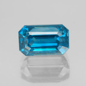 5.28 ct Octagon Facet Blue Zircon Gemstone 9.98 mm x 6.4 mm (Product ID: 353875)