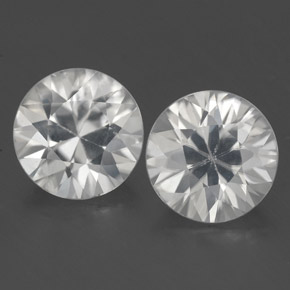 White Zircon Gem - 1.6ct Diamond-Cut (ID: 354874)