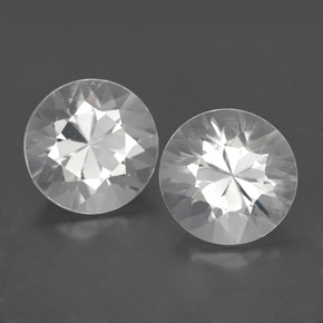 White Zircon Gem - 1.9ct Diamond-Cut (ID: 354944)