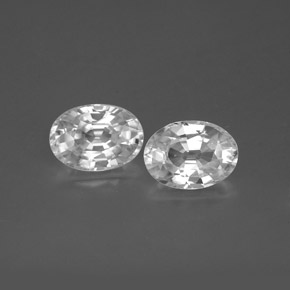 1.3ct Oval Facet White Zircon Gem (ID: 355734)