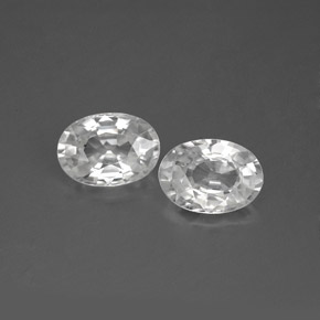1.2ct Oval Facet White Zircon Gem (ID: 355736)
