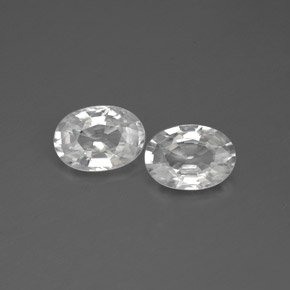 1.2ct Oval Facet White Zircon Gem (ID: 355737)