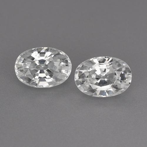 1.4ct Oval Facet White Zircon Gem (ID: 355741)