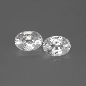 1.3ct Oval Facet White Zircon Gem (ID: 355742)