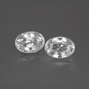 1.5ct Oval Facet White Zircon Gem (ID: 355744)