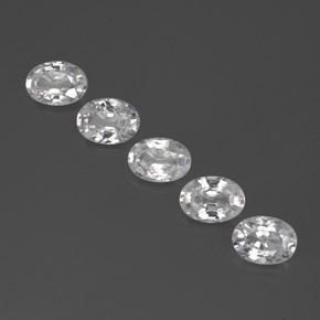 White Zircon Gem - 1.2ct Oval Facet (ID: 355756)