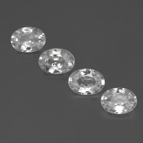 1.1ct Oval Facet White Zircon Gem (ID: 355757)