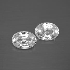 1.3ct Oval Facet White Zircon Gem (ID: 355759)