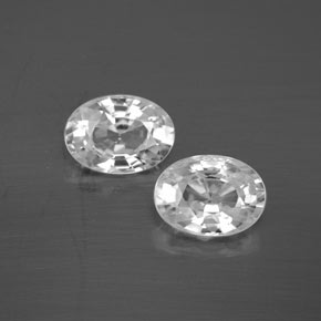 1.3ct Oval Facet White Zircon Gem (ID: 355761)