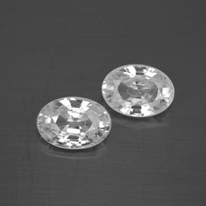 1.3ct Oval Facet White Zircon Gem (ID: 355764)